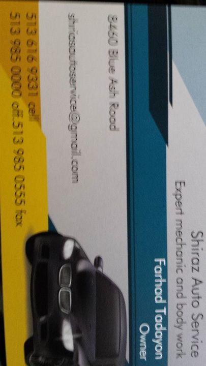 Shirazautoservice@yahoo.com auto service